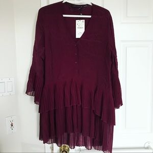 Zara Ruffle Tunic Dress
